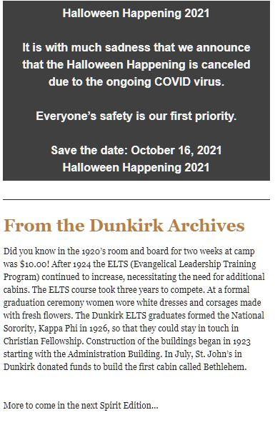 Dunkirk Camp & Conference Center